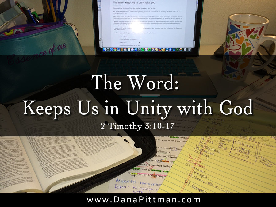 31 Days in the Word: Day 1 - Unity with God