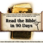 Just Keep Reading: Bible in 90 Days Week 12
