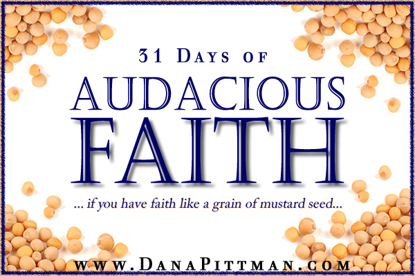 31 Days of Audacious Faith | Dana Pittman | Write 31 Days