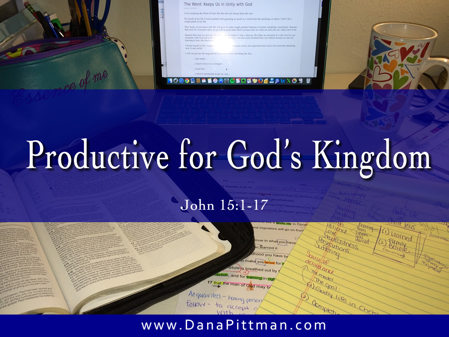 Day 5: Productive for God's Kingdom | DanaPittman.com