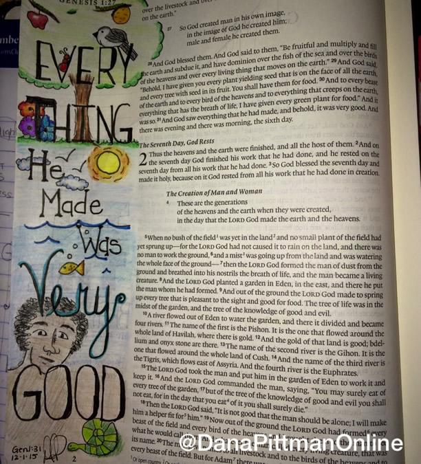 Day 2 - Advent Bible Journaling || DanaPittman.com