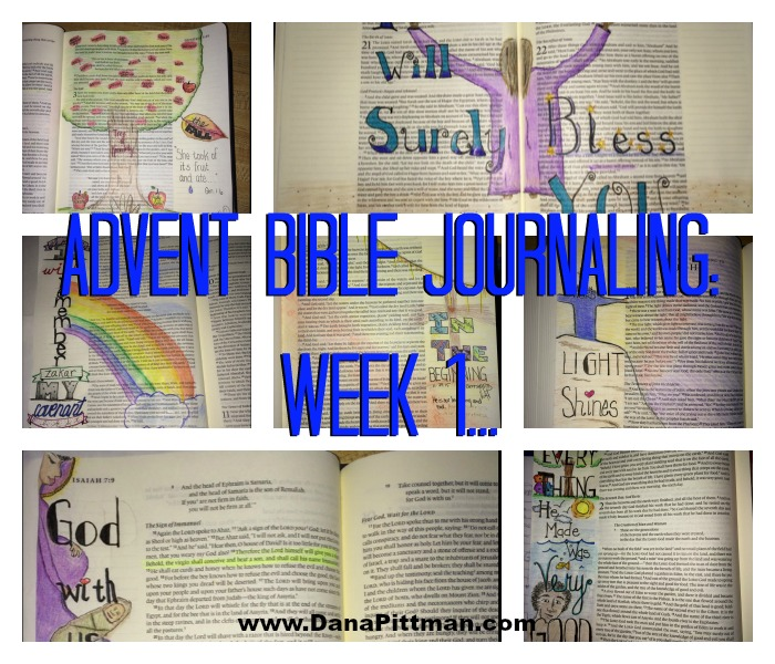 Advent Bible Journaling: Week 1 (2015) || DanaPittman.com