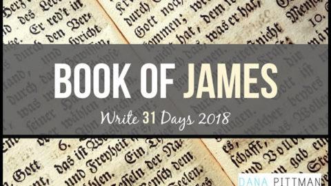 Write 31 Days | Book of James | DanaPittman.com